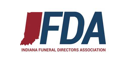 Indiana Funeral Director's Association logo.